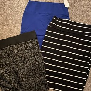 Lot of 3 Pencil skirts